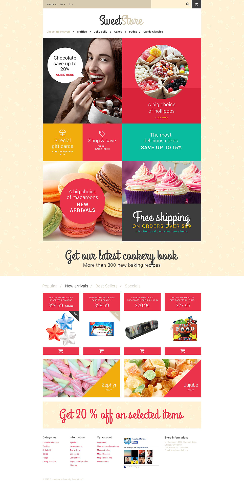 Sweetie (ecommerce PrestaShop template) Item Picture