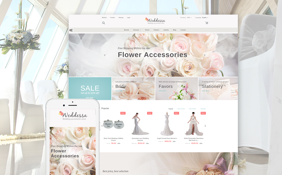 Weddessa (ecommerce template for PrestaShop ) Item Picture