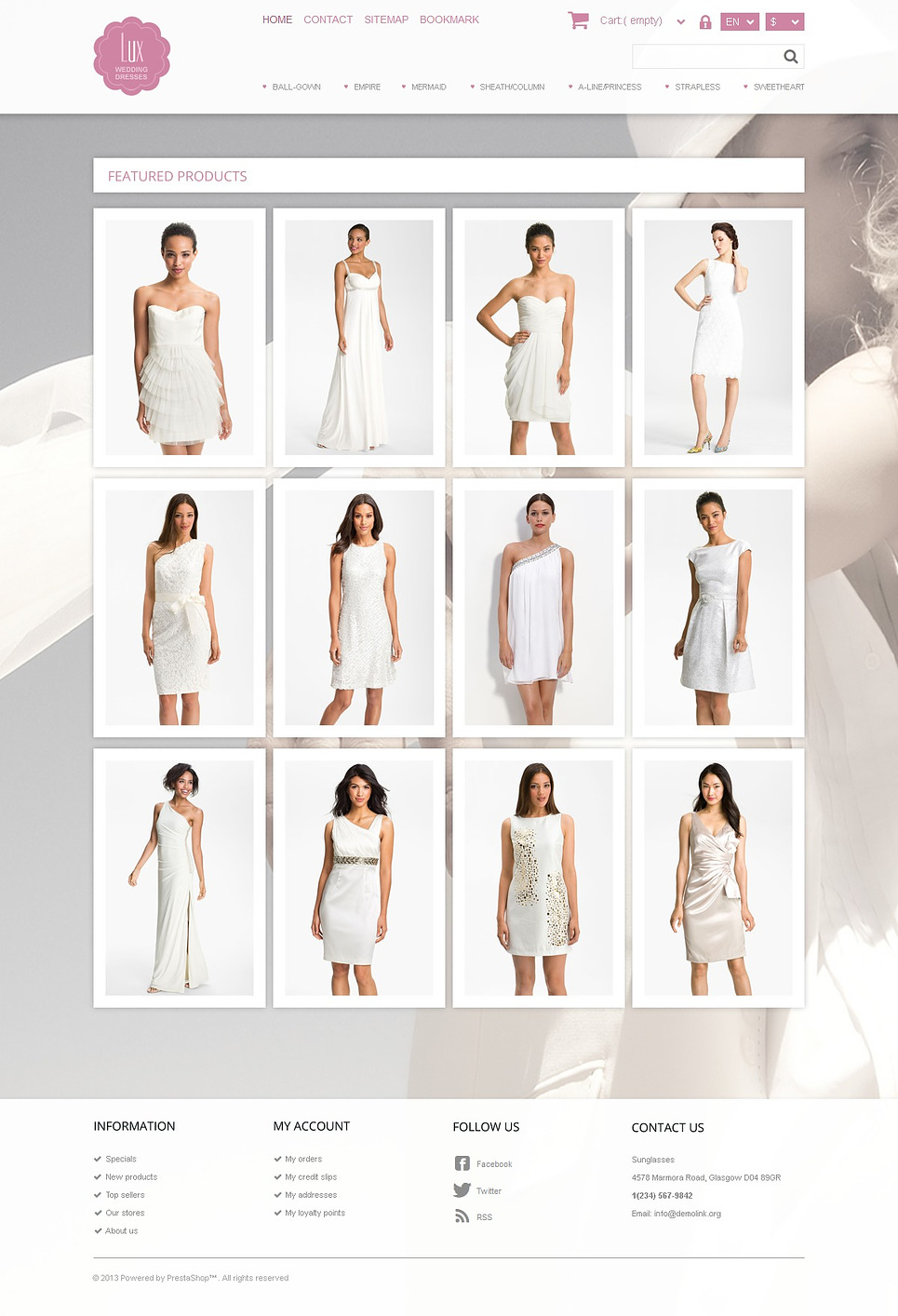 Wedding Dresses Store (ecommerce template for PrestaShop ) Item Picture