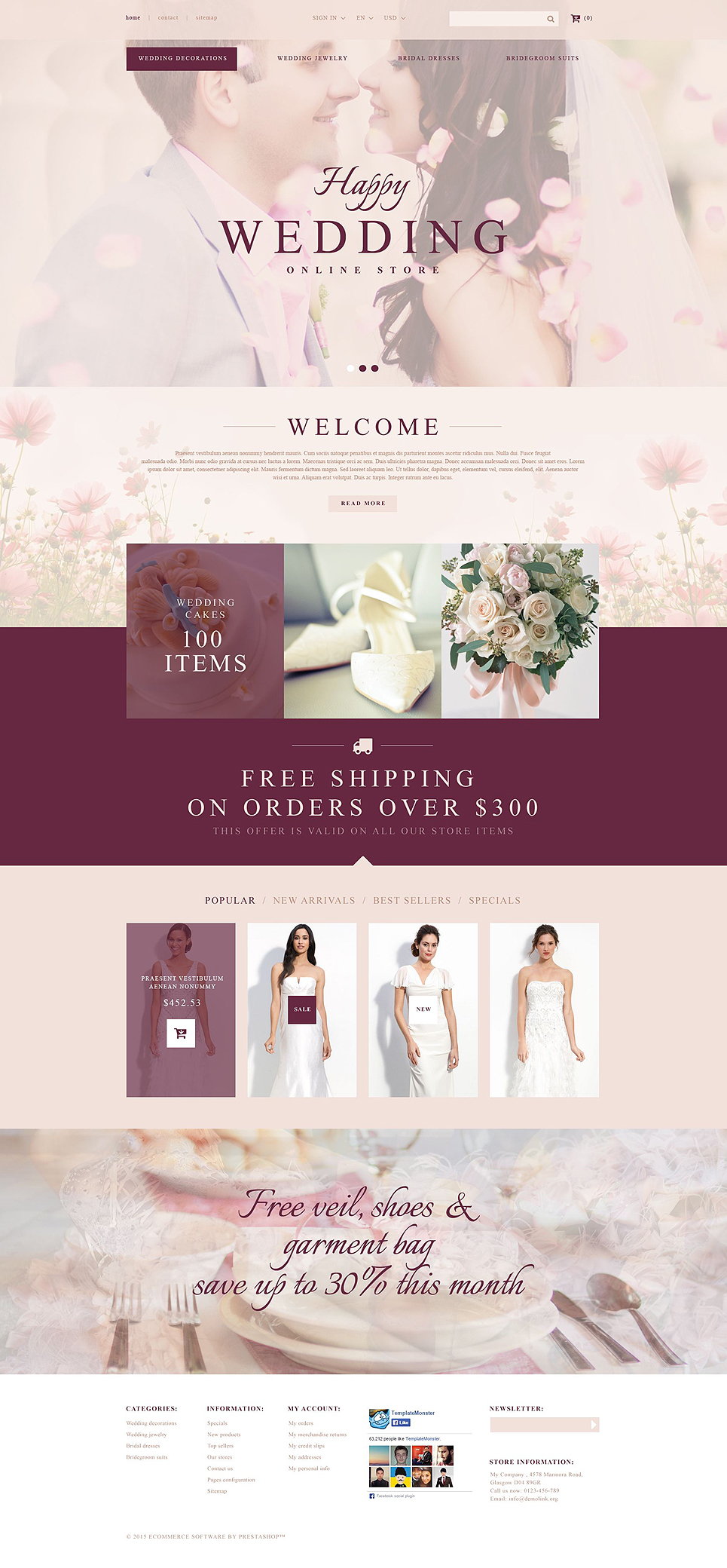 Wedding Store (ecommerce template for PrestaShop ) Item Picture