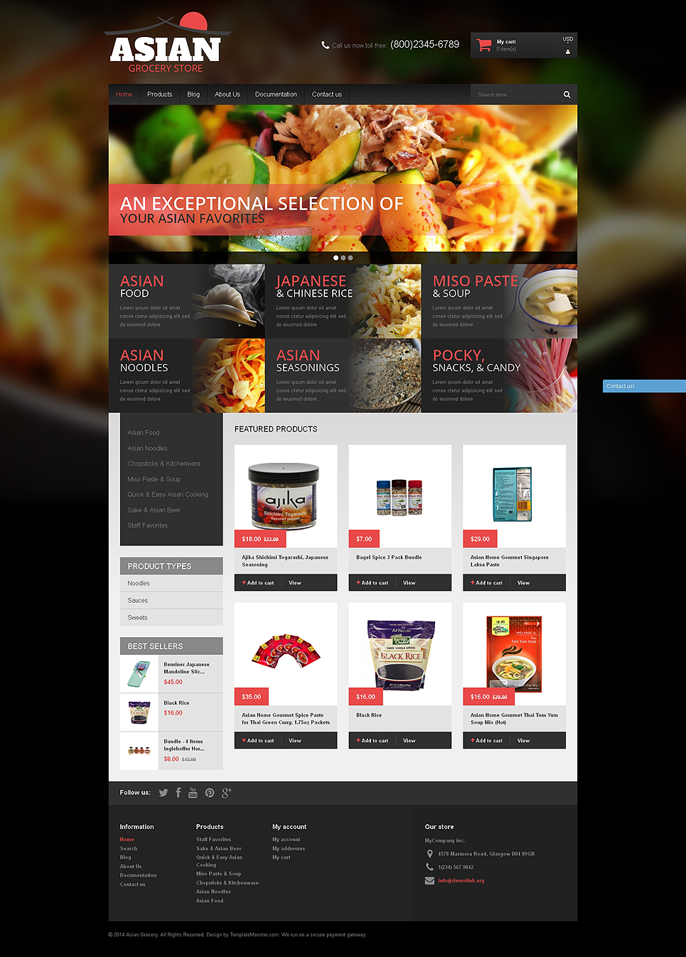 Asian Cuisine Products (Shopify theme) Item Picture