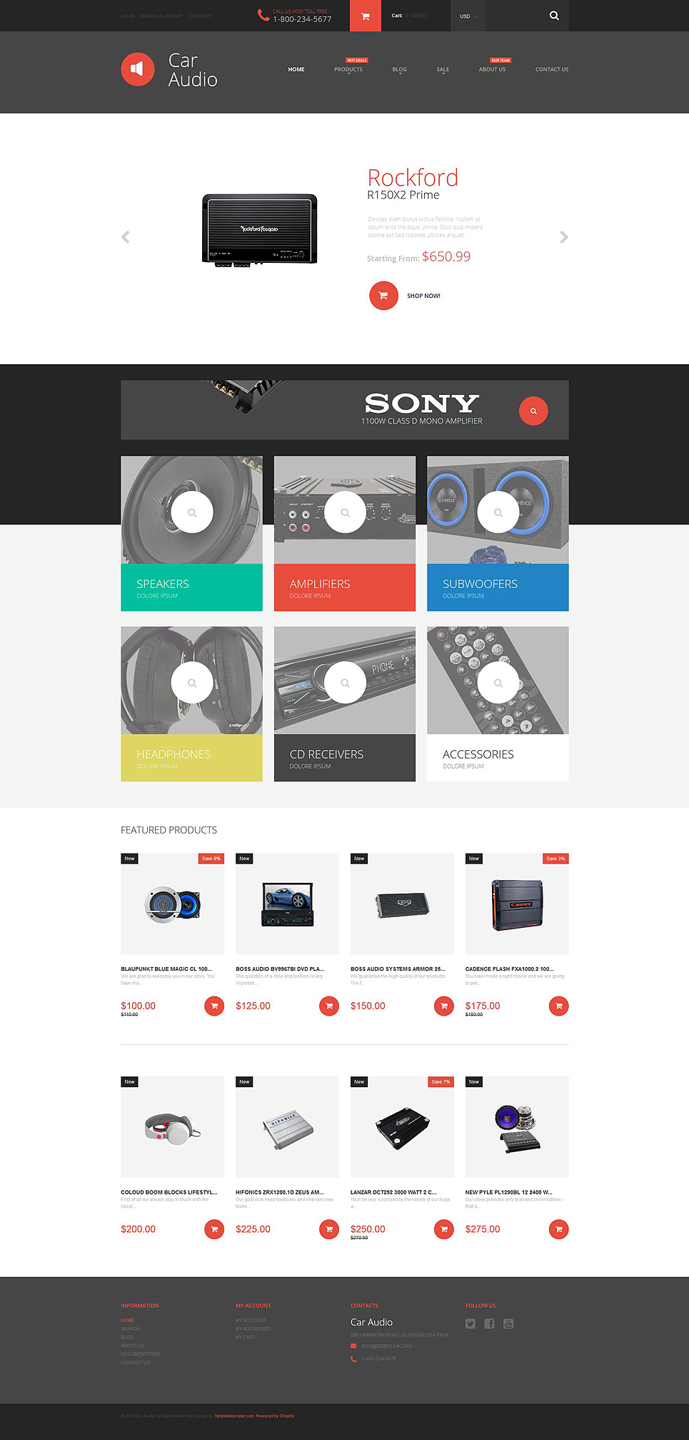 Car Audio (ecommerce Shopify theme) Item Picture