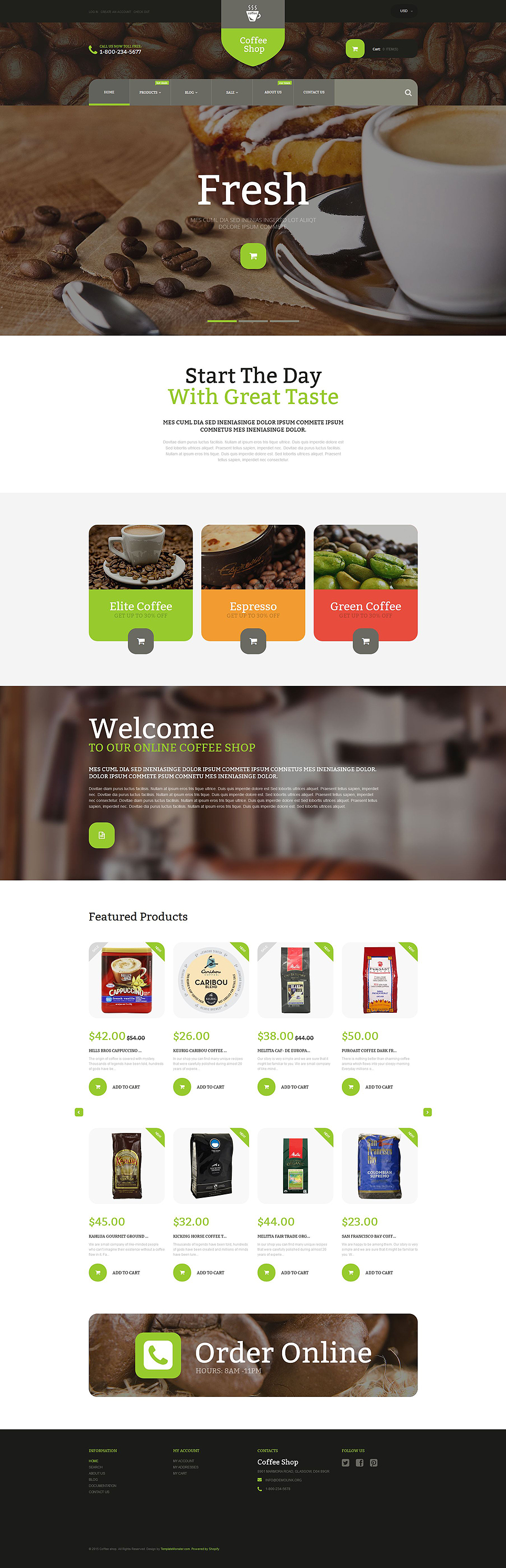Coffee Store (ecommerce website theme) Item Picture