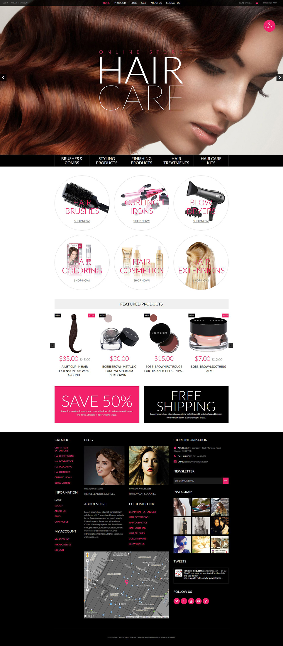 Cosmetics Store (ecommerce Shopify theme) Item Picture