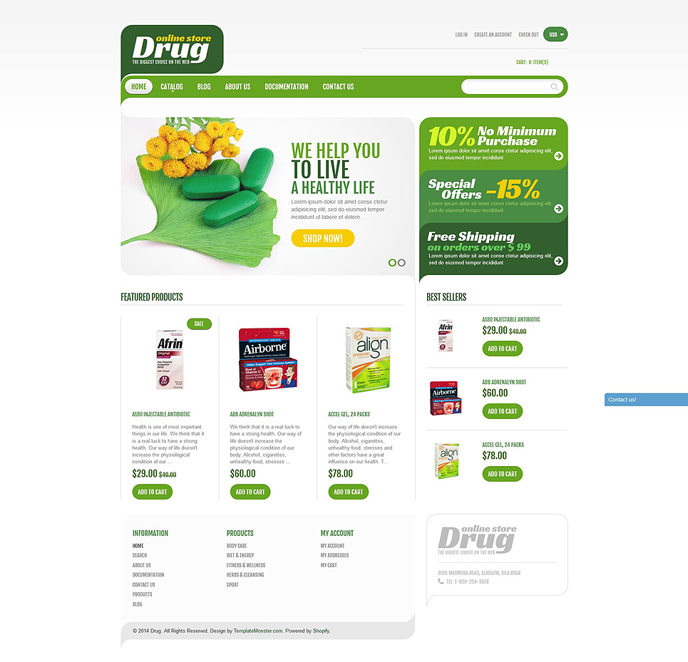 Drug Store (ecommerce theme) Item Picture