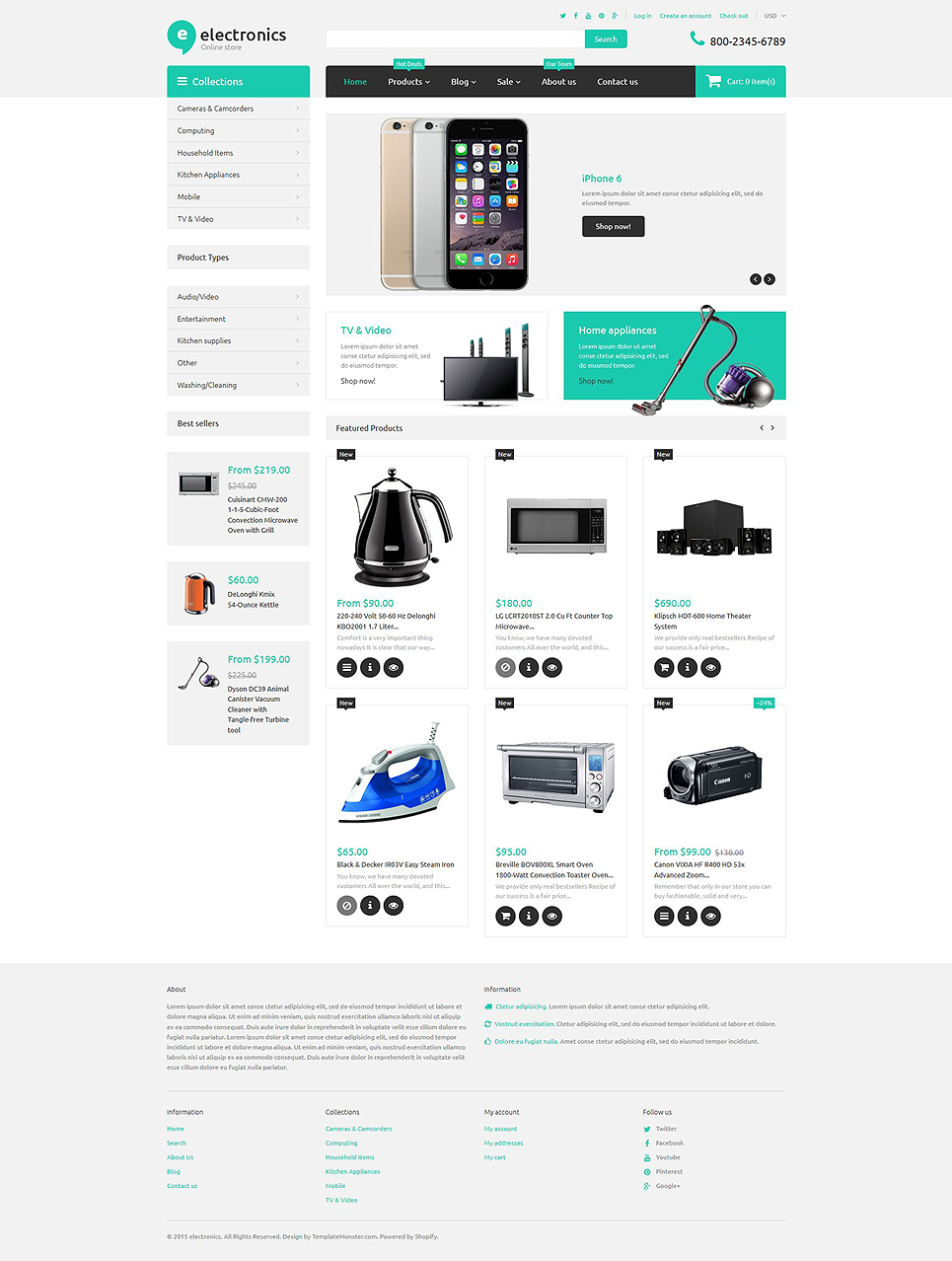 Electronics Retailer (ecommerce website theme) Item Picture