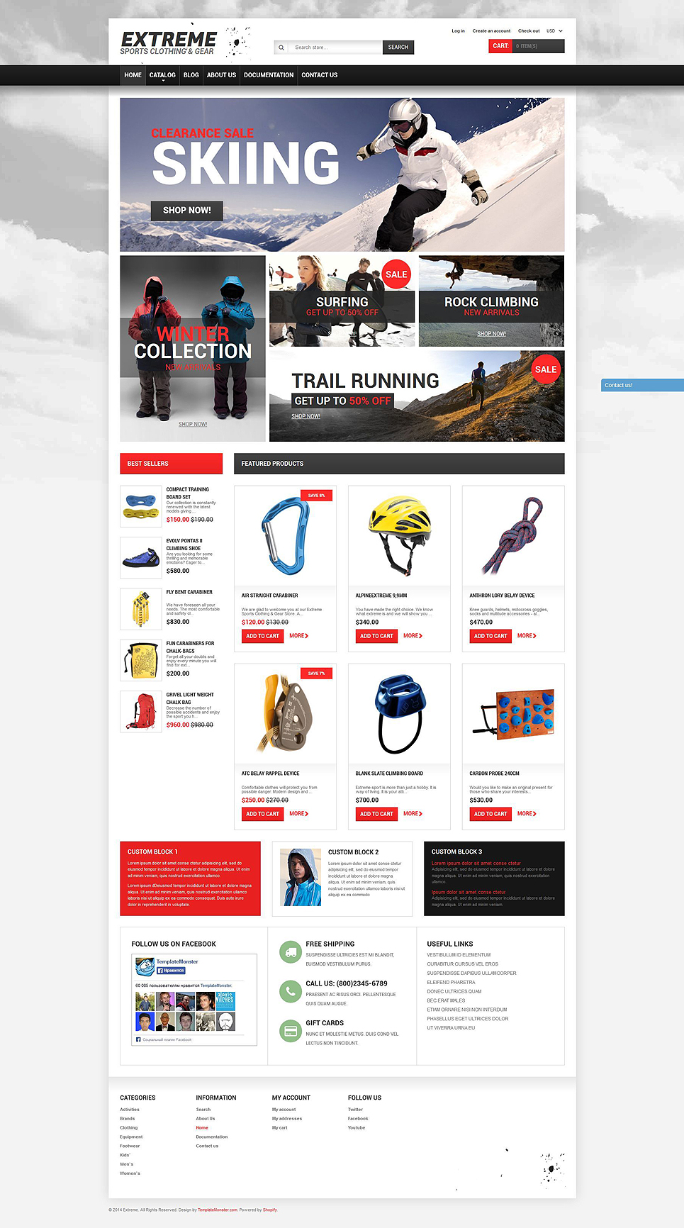 Extreme Sports Gear (theme for Shopify) Item Picture