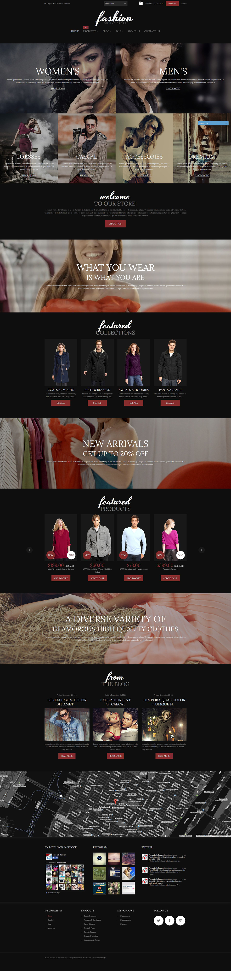 Fashion Online Store (ecommerce Shopify theme) Item Picture