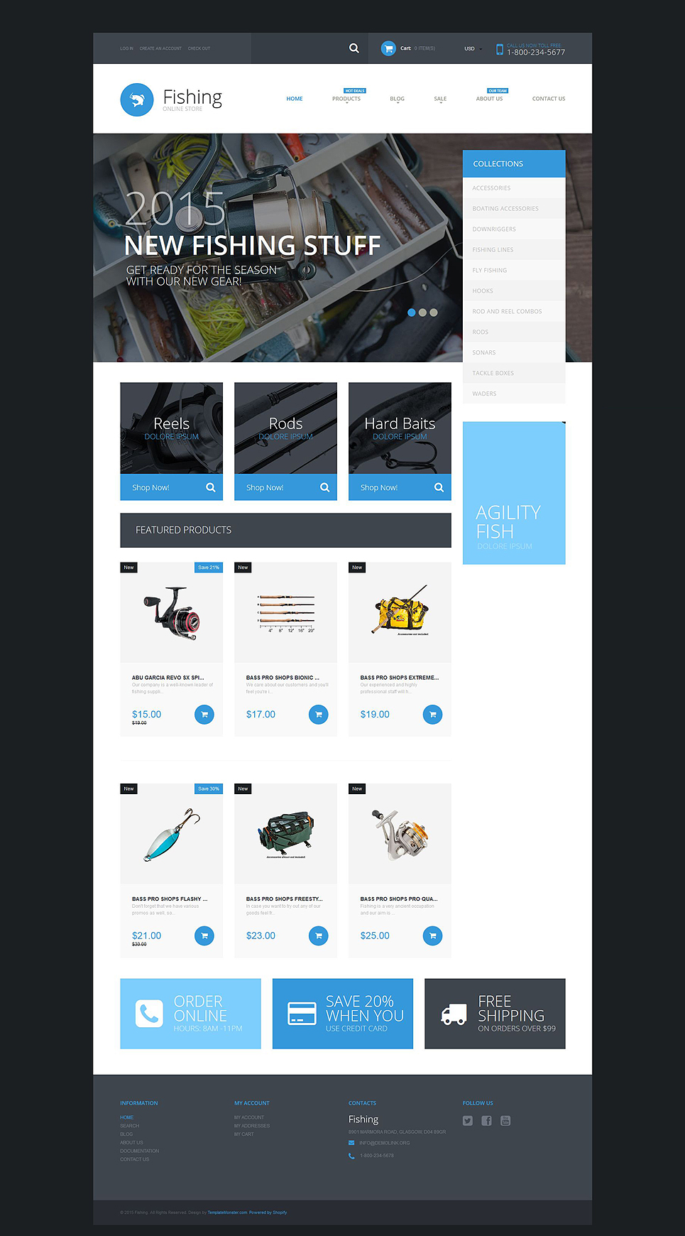 Hook Line and Sinker (ecommerce website theme) Item Picture