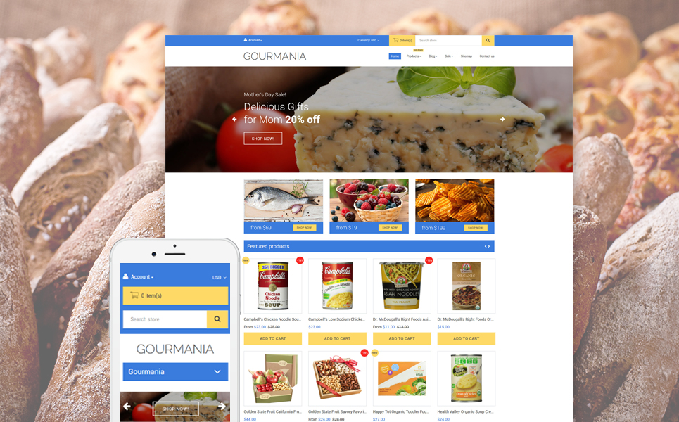 Gourmania (theme for Shopify) Item Picture