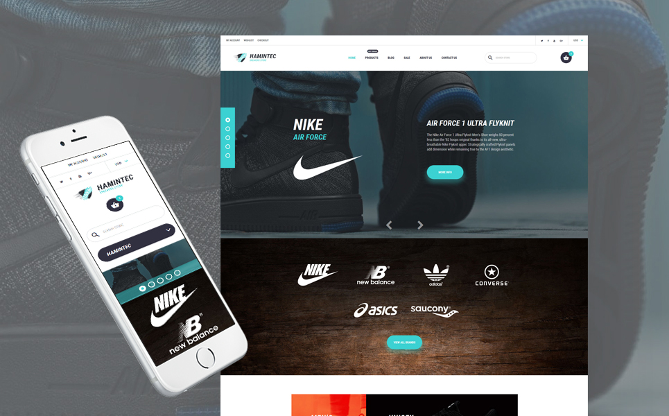Hamintec (Shopify theme for ecommerce sites) Item Picture