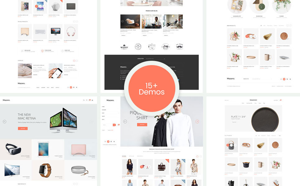 Mazano (Shopify theme for ecommerce sites) Item Picture