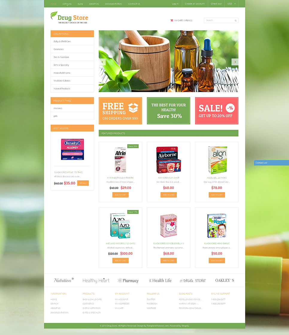 Vitastop (ecommerce website theme) Item Picture