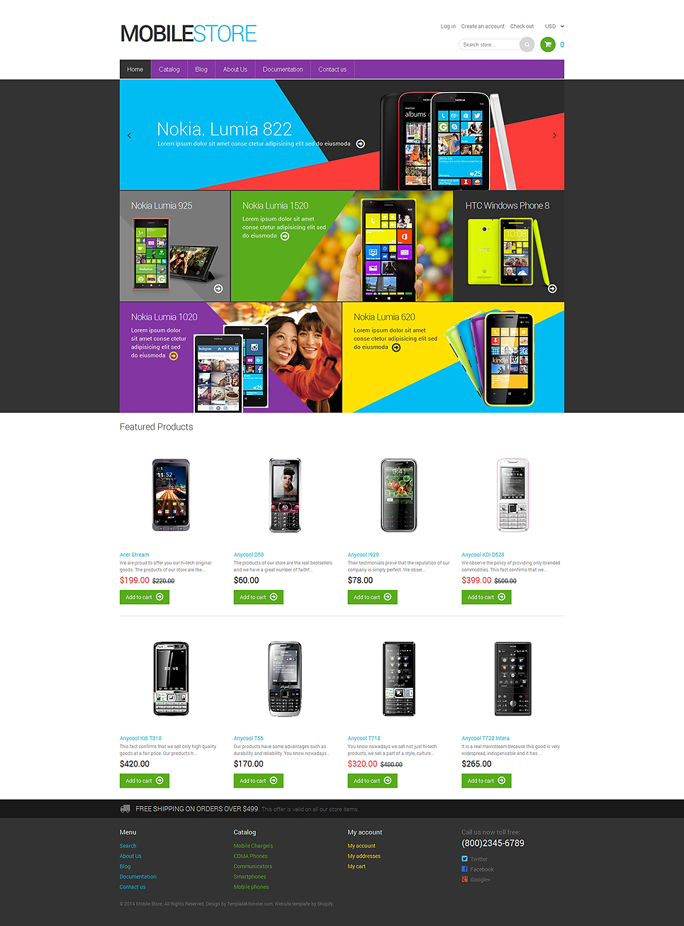 Mobile Store (website theme) Item Picture