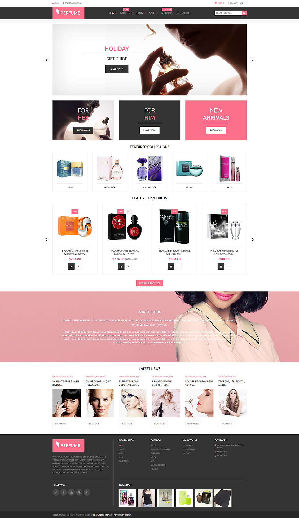 Perfumes Cosmetics (theme for Shopify) Item Picture