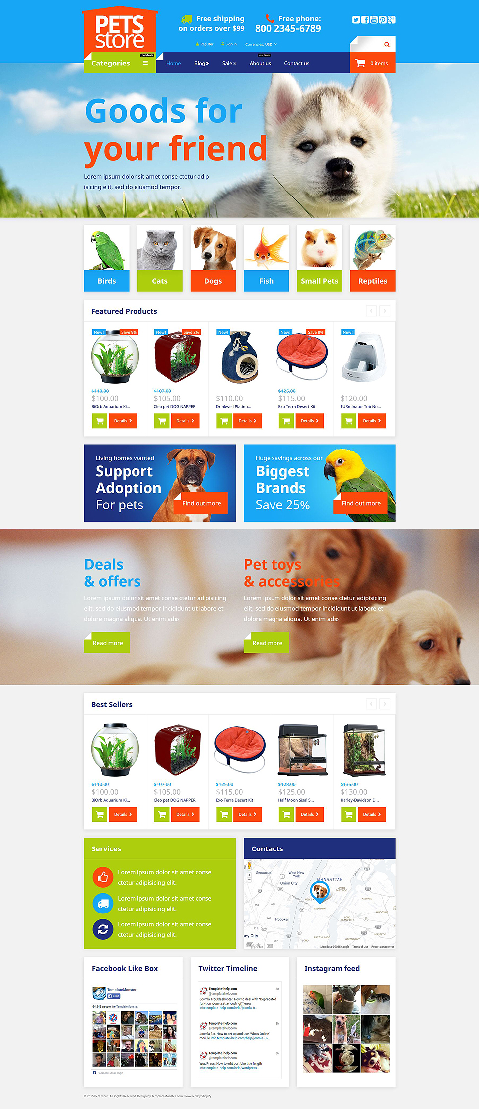 Pet Supplies Shop  (ecommerce Shopify theme) Item Picture