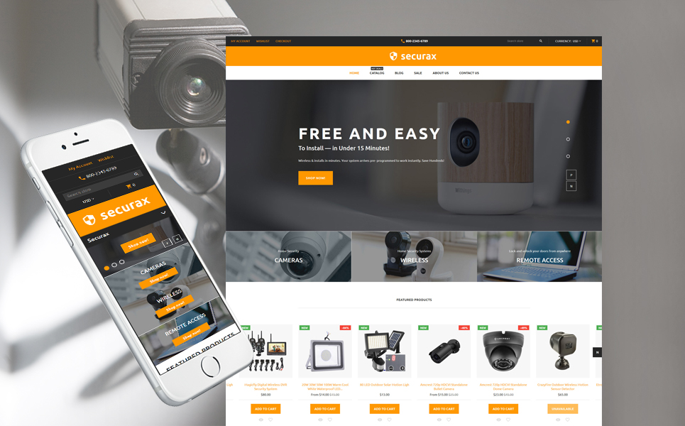 Security (ecommerce Shopify theme) Item Picture