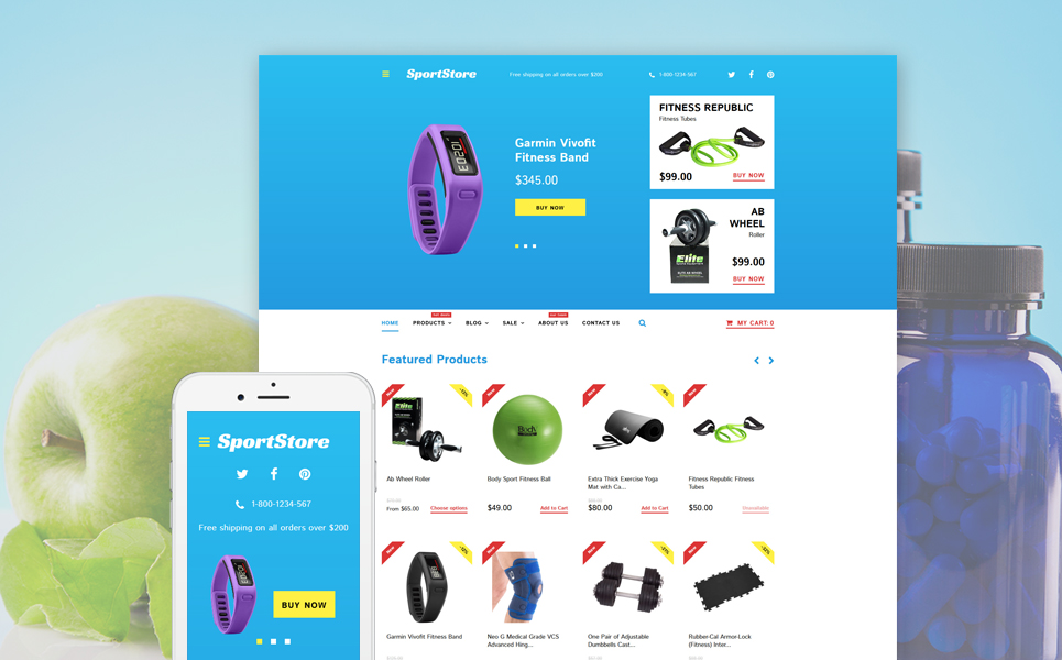 Sport Store (Shopify theme) Item Picture