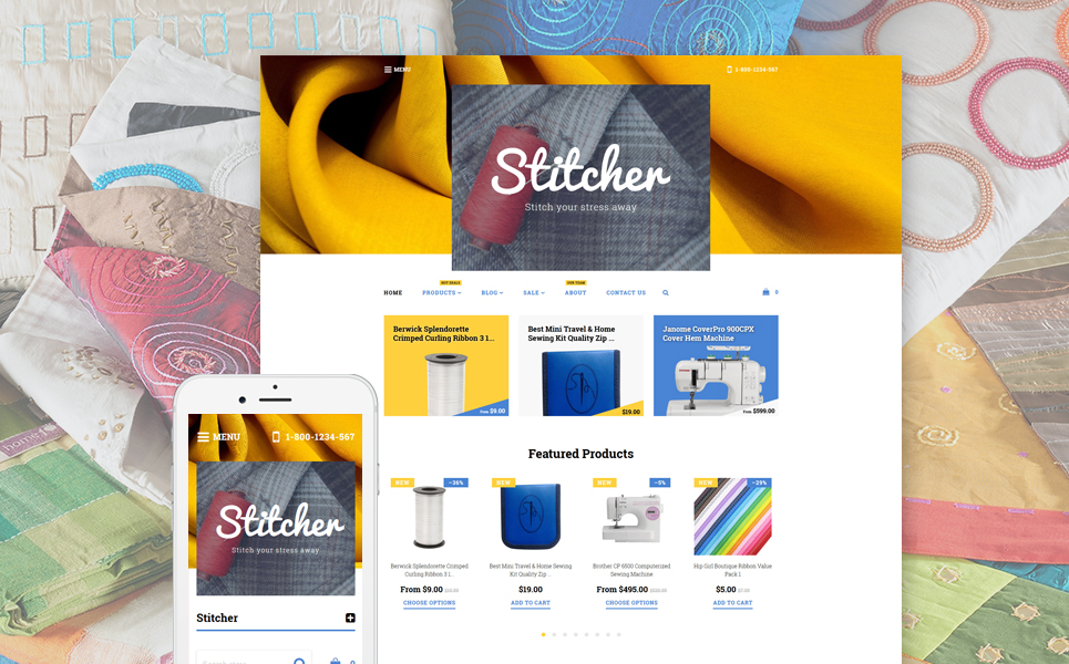 Stitcher (Shopify ecommerce theme) Item Picture