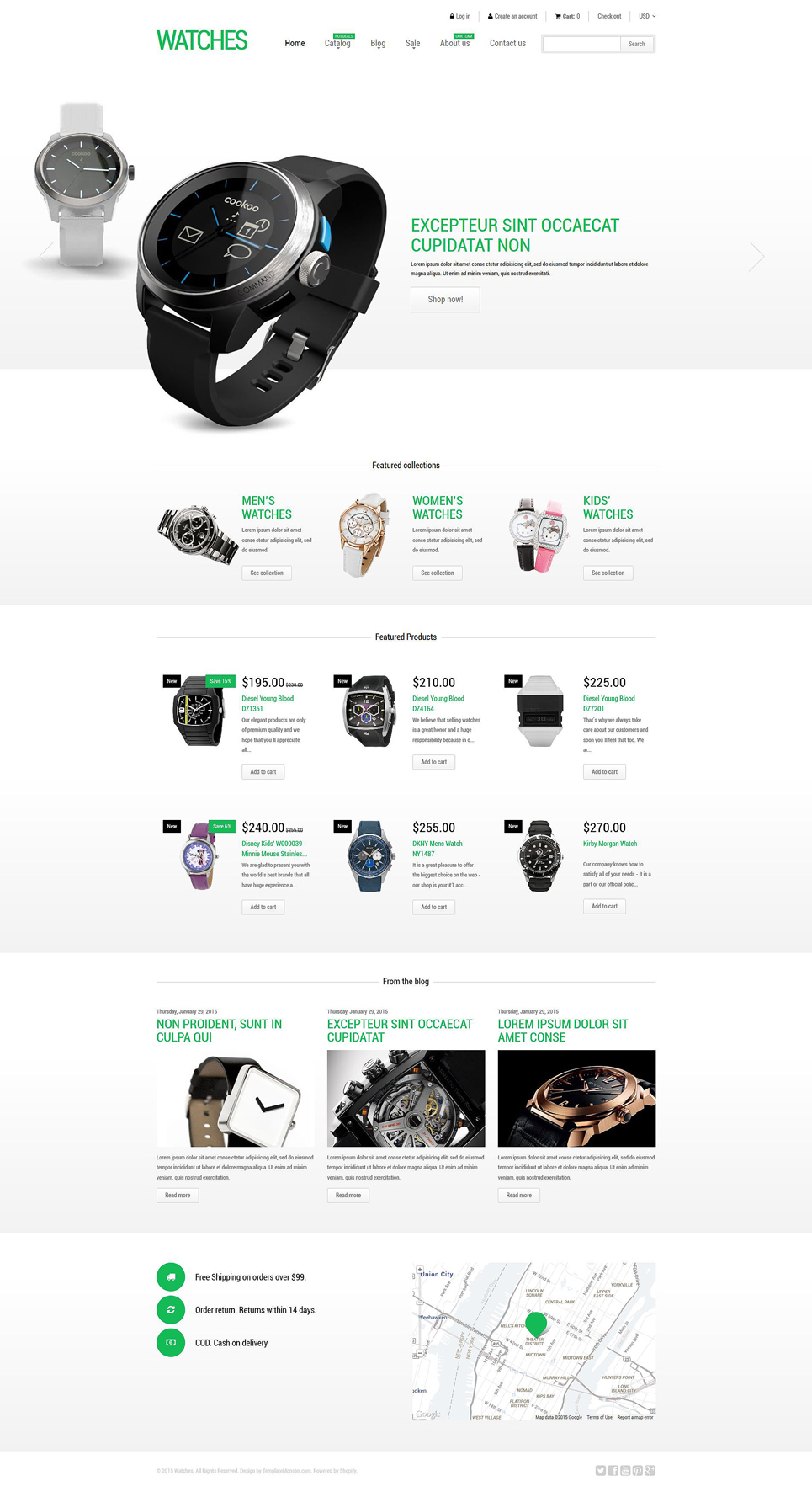 Stylish Watches (theme for Shopify) Item Picture