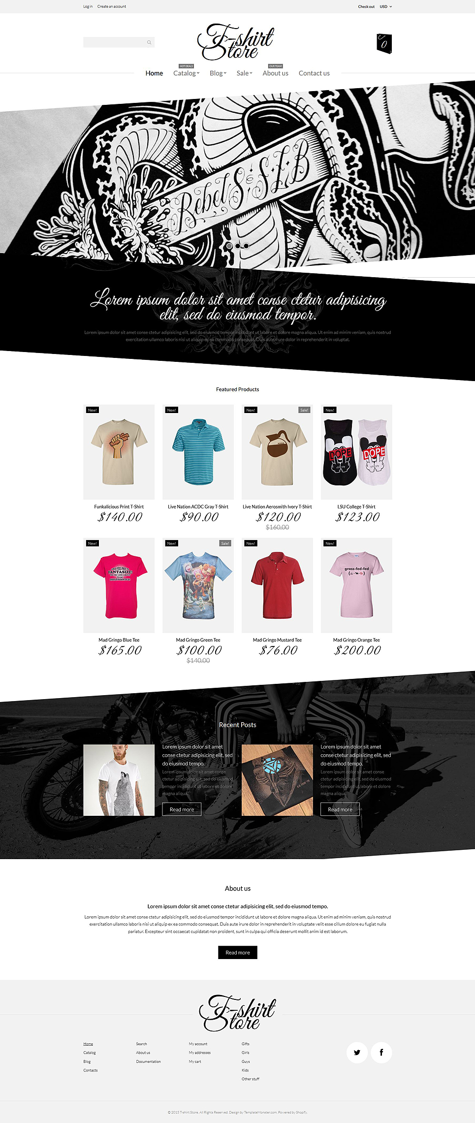T-Shirt Designs (Shopify theme) Item Picture