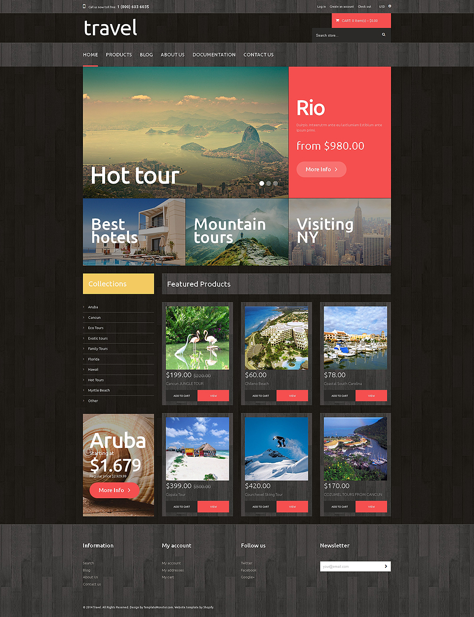 Travel Agency (ecommerce website theme) Item Picture