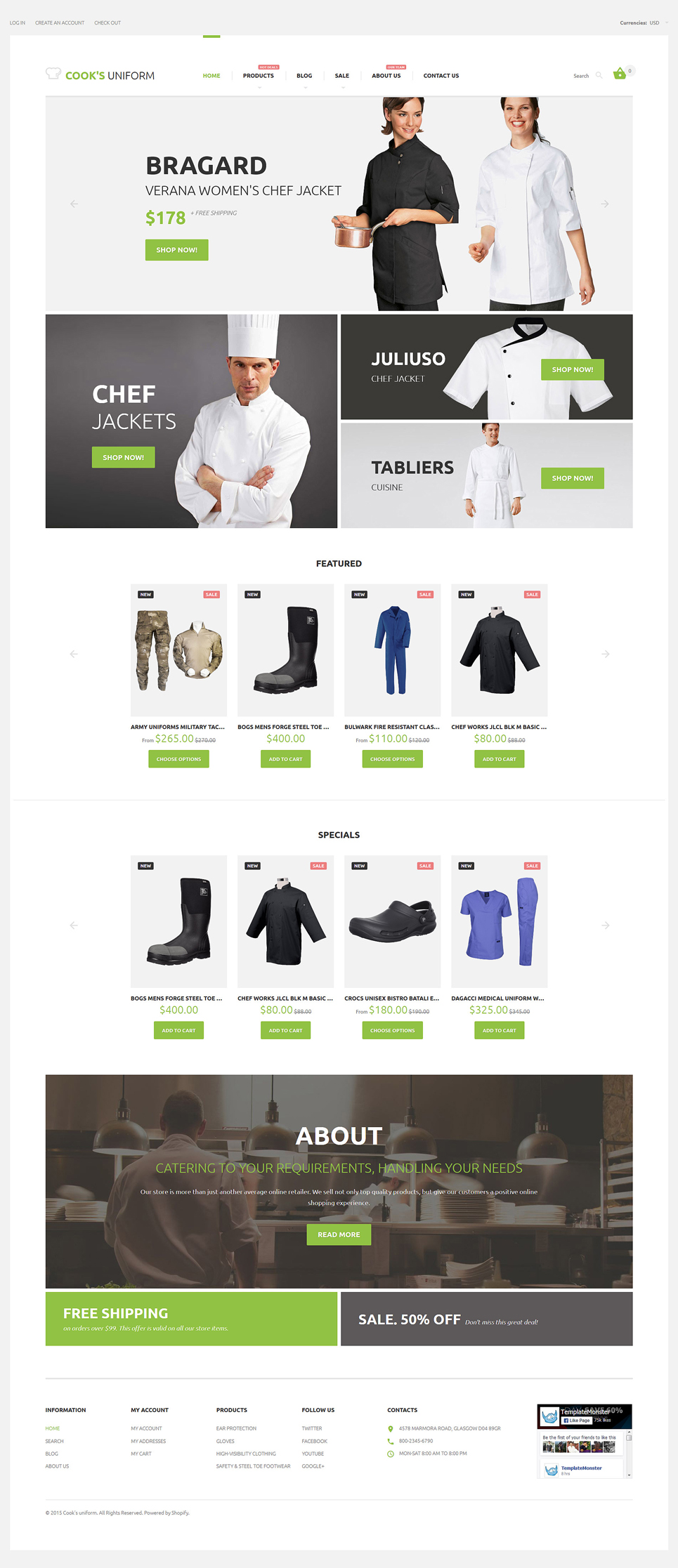 Uniform Store (Shopify theme for ecommerce sites) Item Picture
