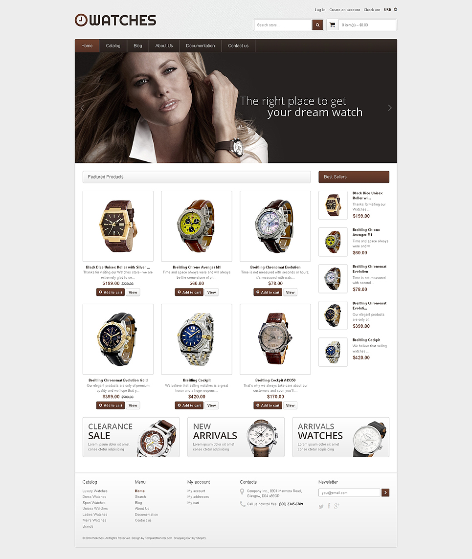 Watch Store (theme for Shopify) Item Picture