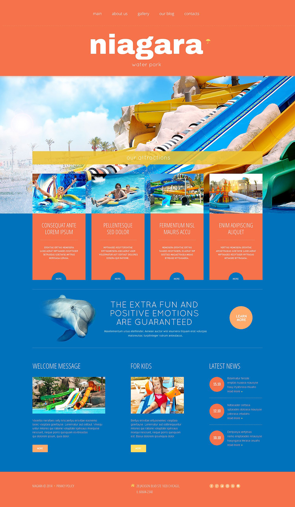 Niagara Adventure Park (theme for your WordPress site) Item Picture
