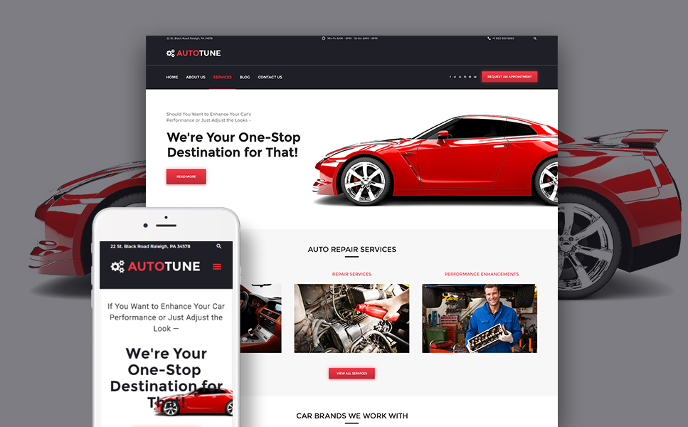 AutoTune (theme for your WordPress site) Item Picture