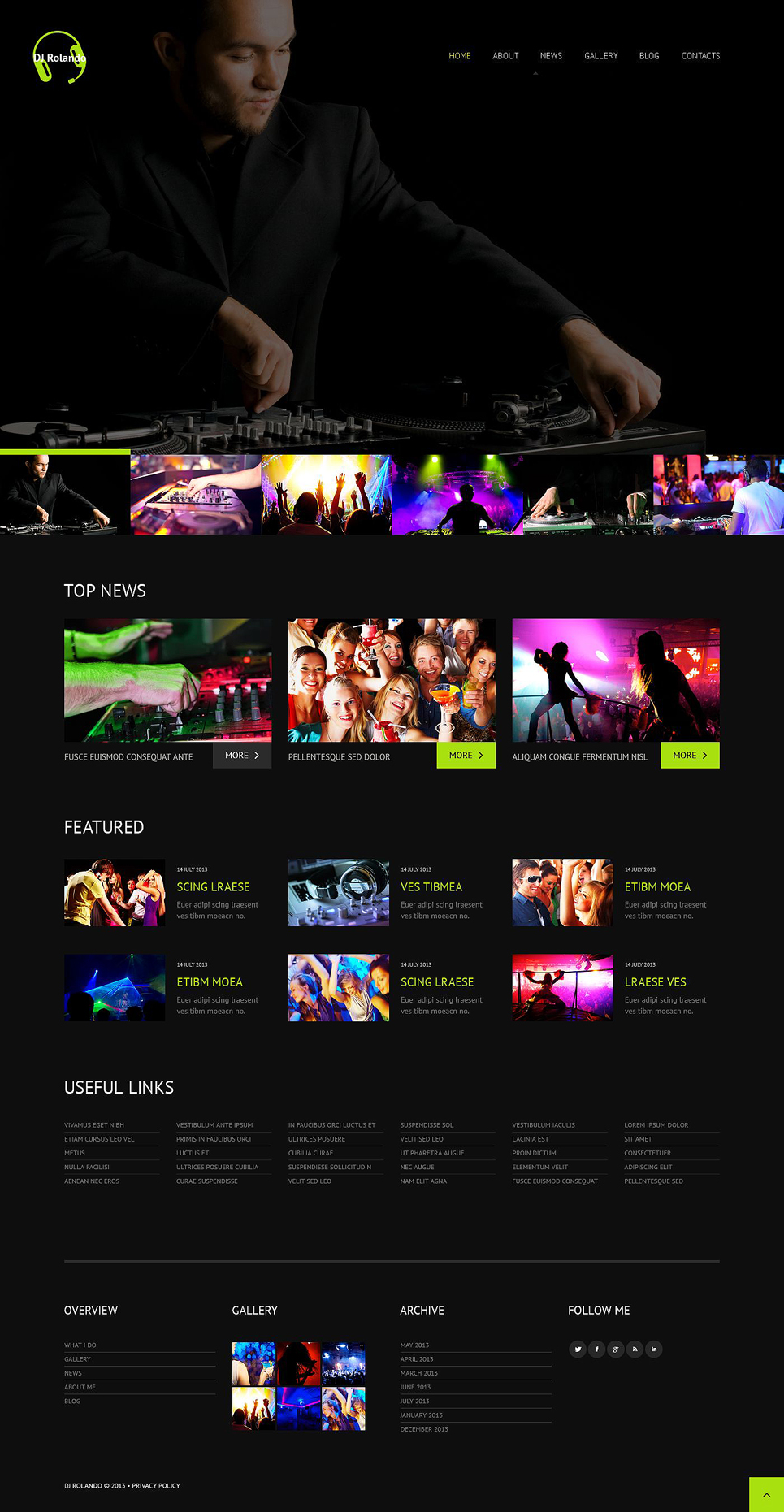 DJ (theme for WordPress) Item Picture