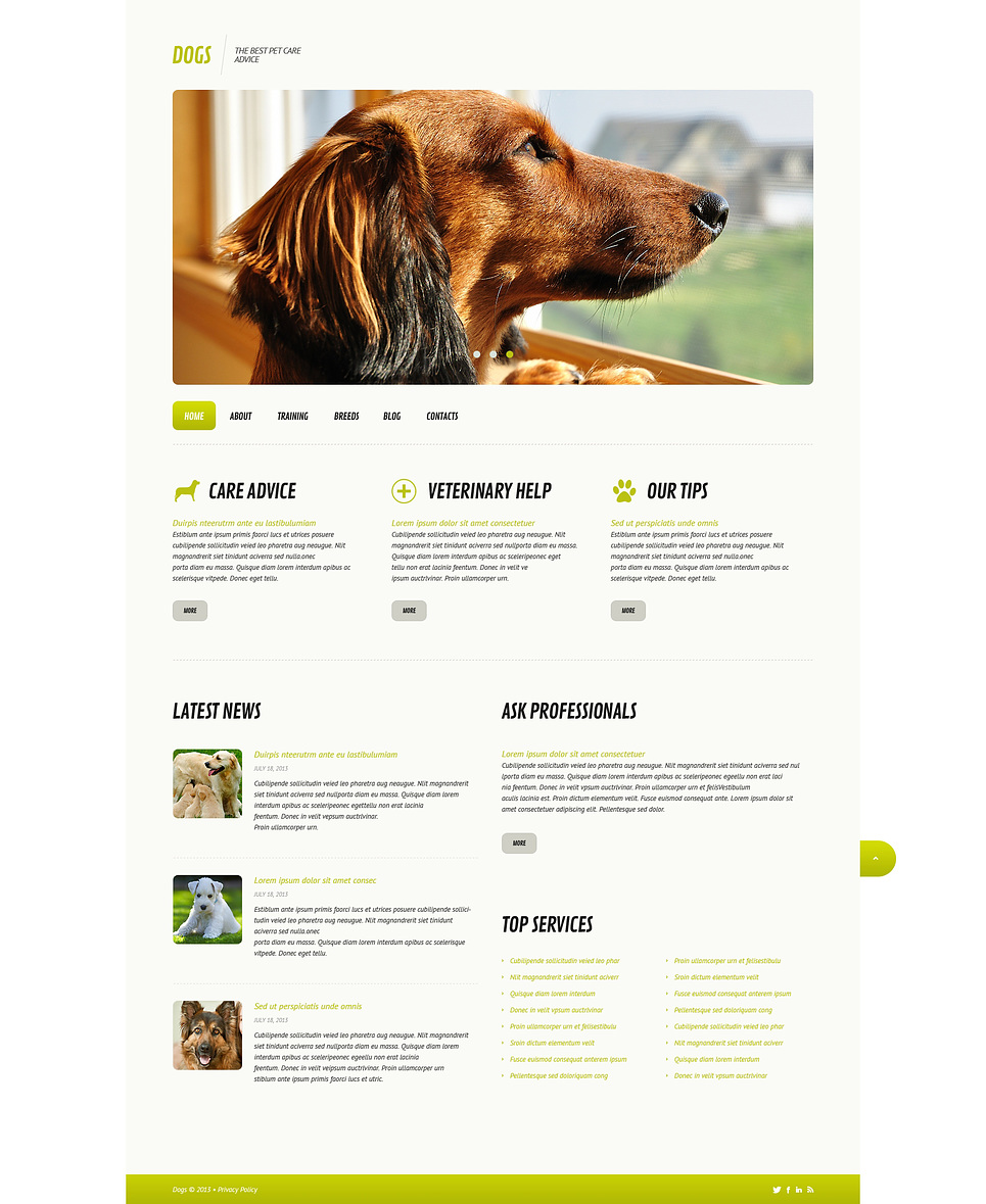 Dogs Life (WordPress theme) Item Picture