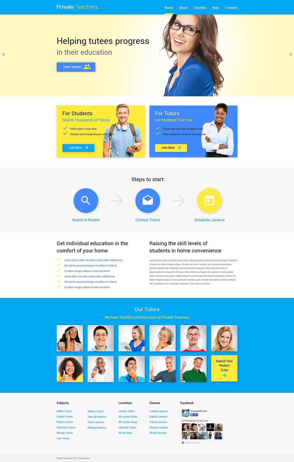 Education Help (WordPress template) Item Picture