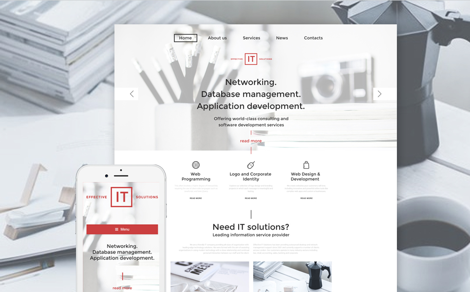 Effective IT Solutions (WordPress template) Item Picture