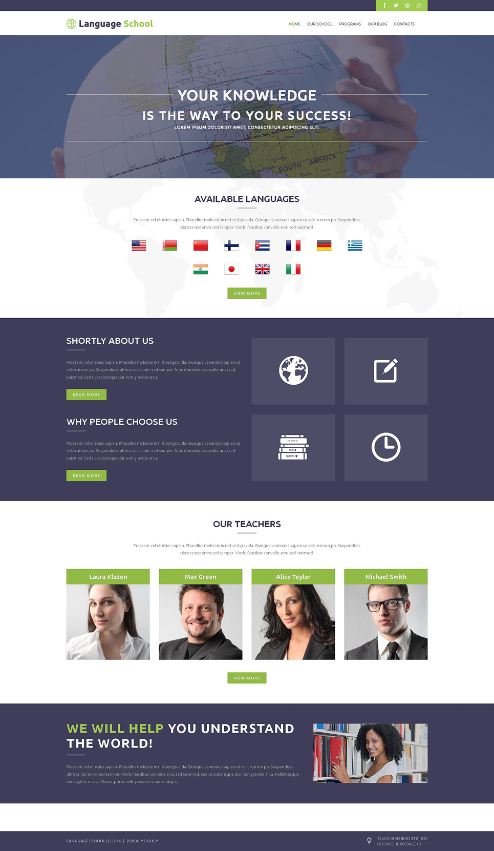 Foreign Language School (theme for WordPress) Item Picture
