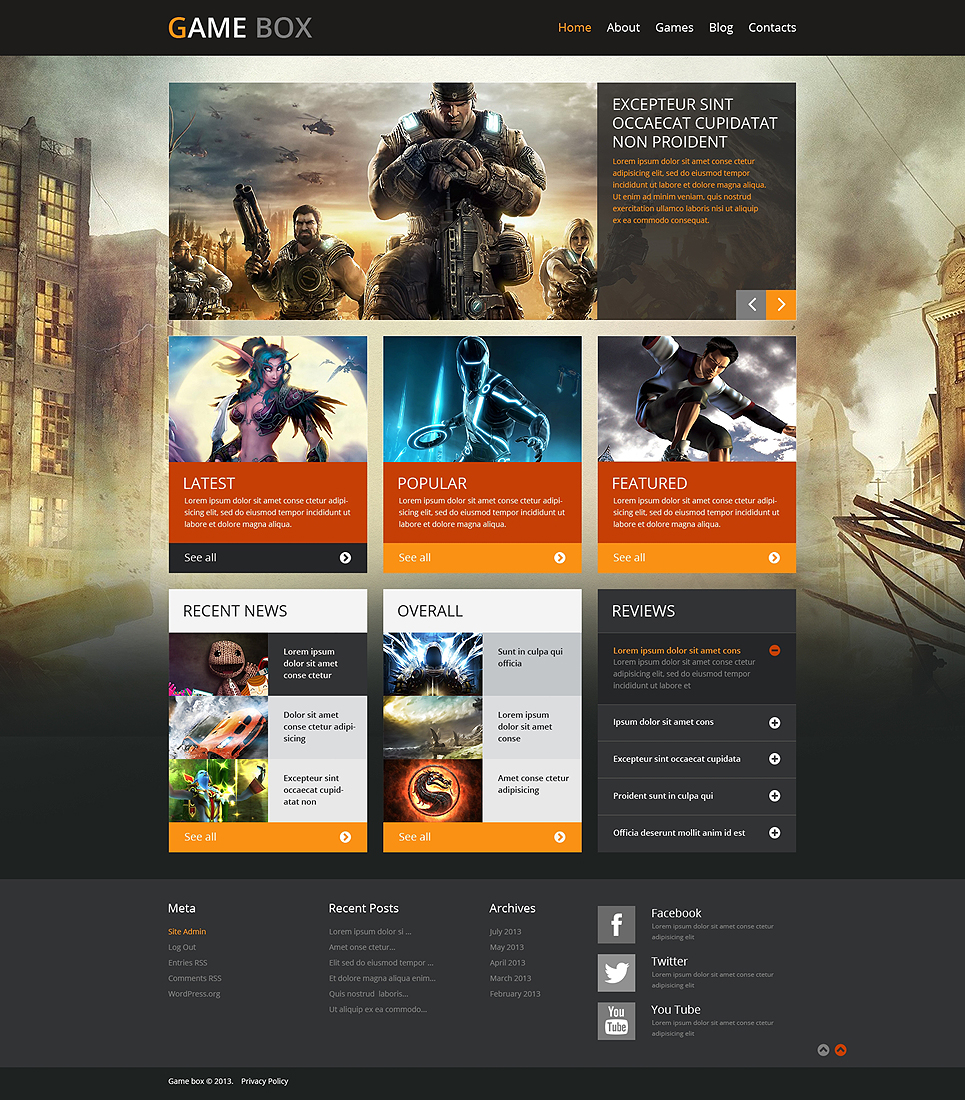 Game Portal (theme for WordPress) Item Picture