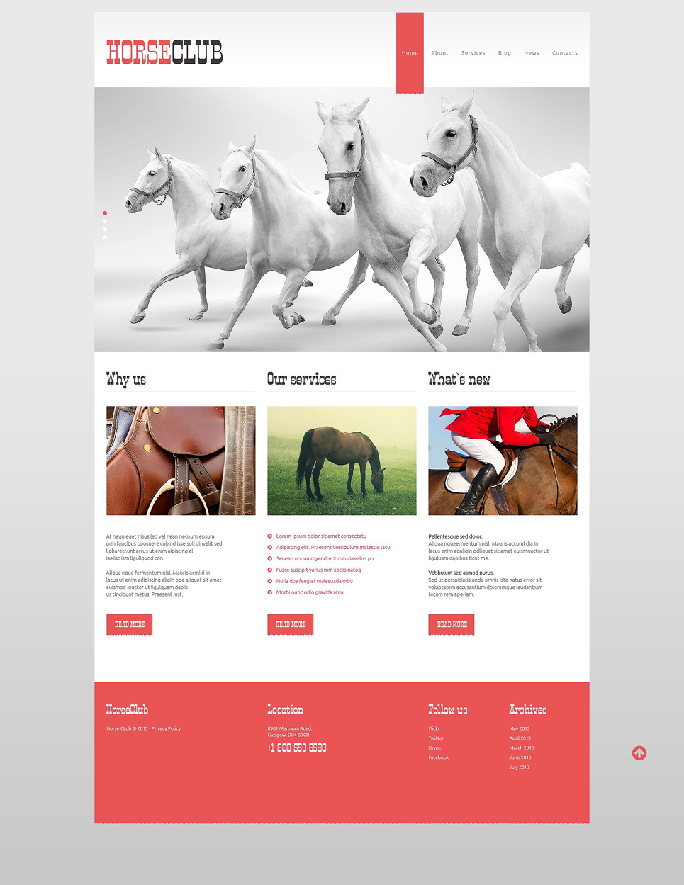 Horse Club (WordPress template) Item Picture