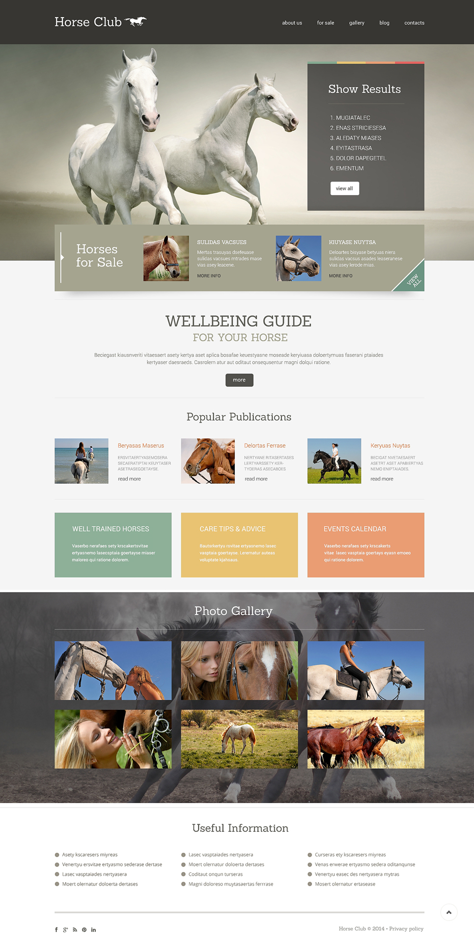 Horse (WordPress theme) Item Picture
