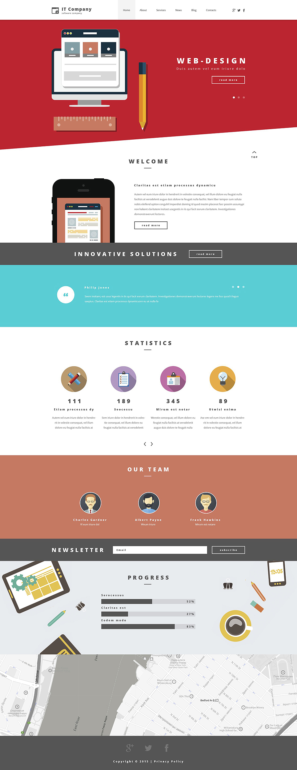 IT Company (theme for your WordPress site) Item Picture