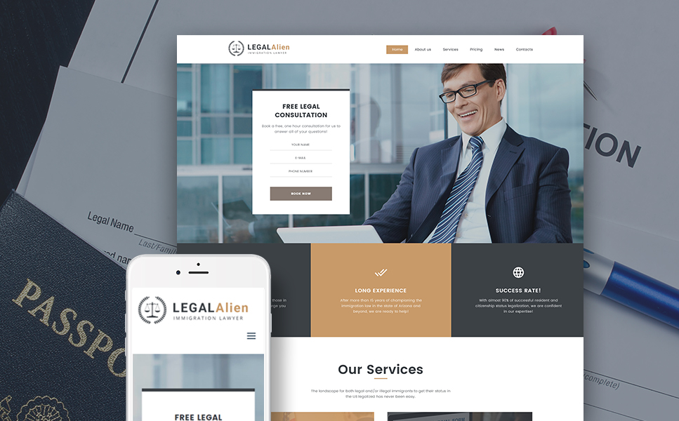 Immigration Lawyer (website theme) Item Picture