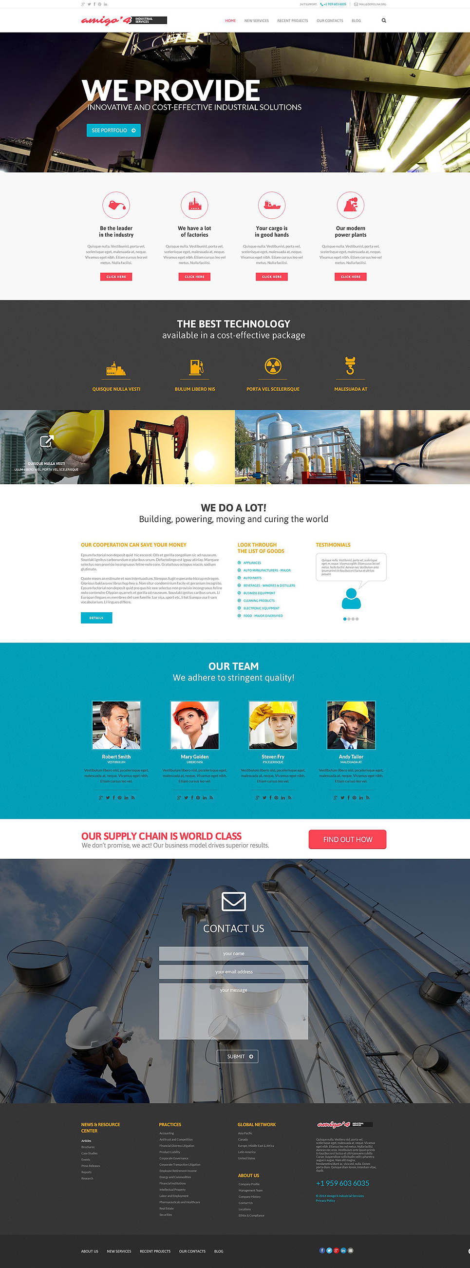 Industrial Agency (website theme) Item Picture