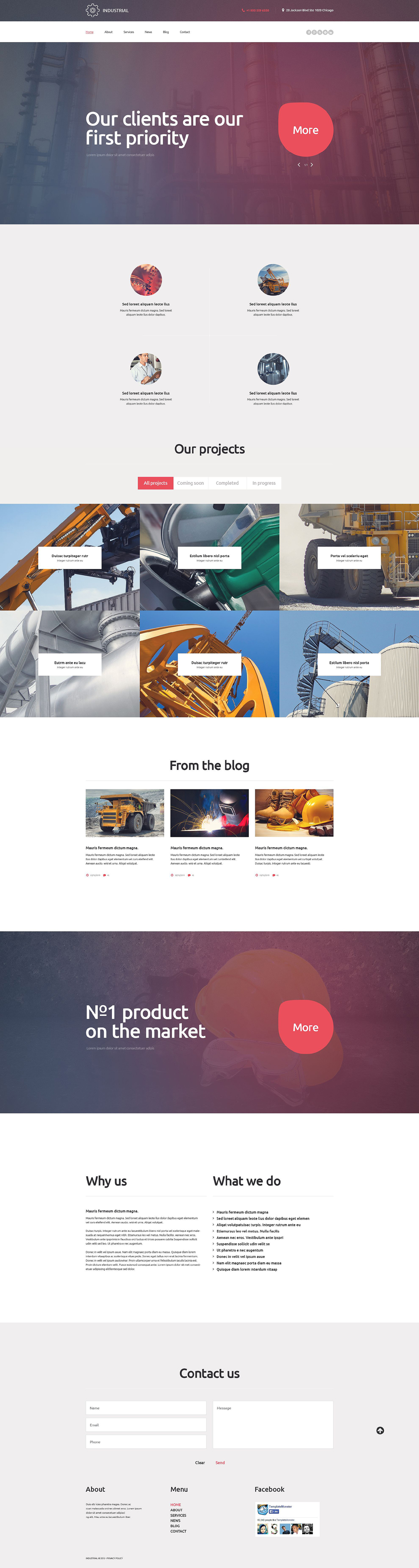 Industrial (WordPress template) Item Picture