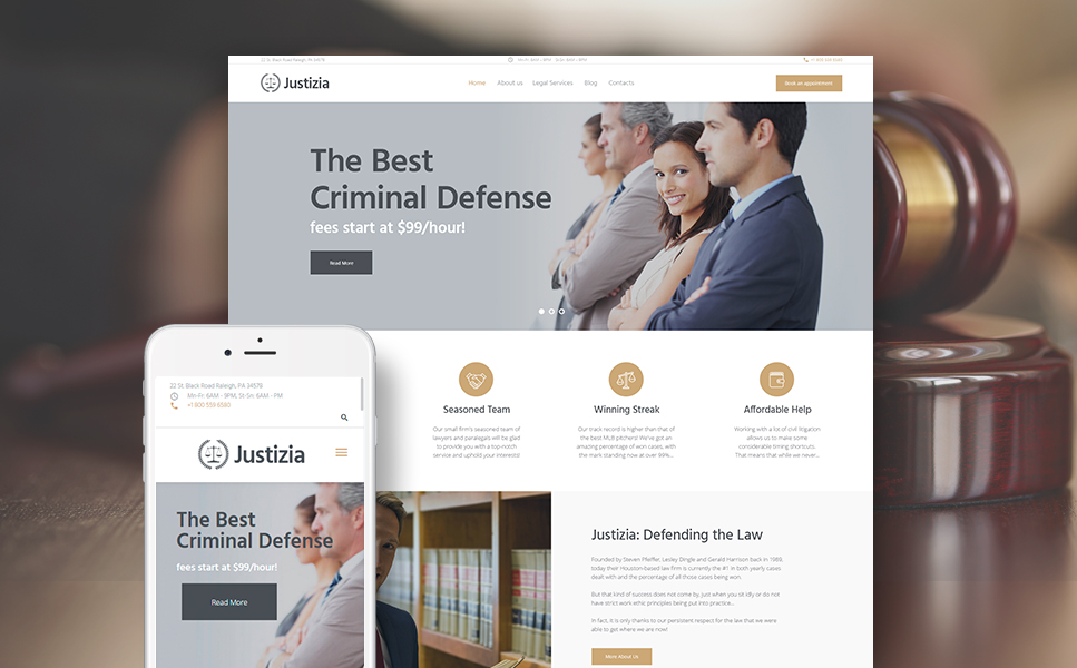 Justizia (WordPress theme) Item Picture