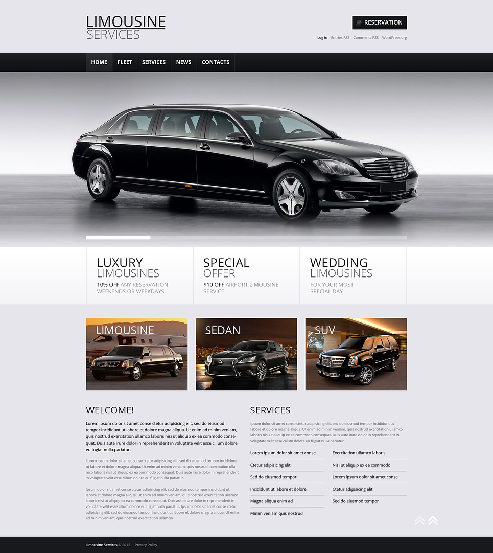 Limousine Rent Store (theme for your WordPress site) Item Picture