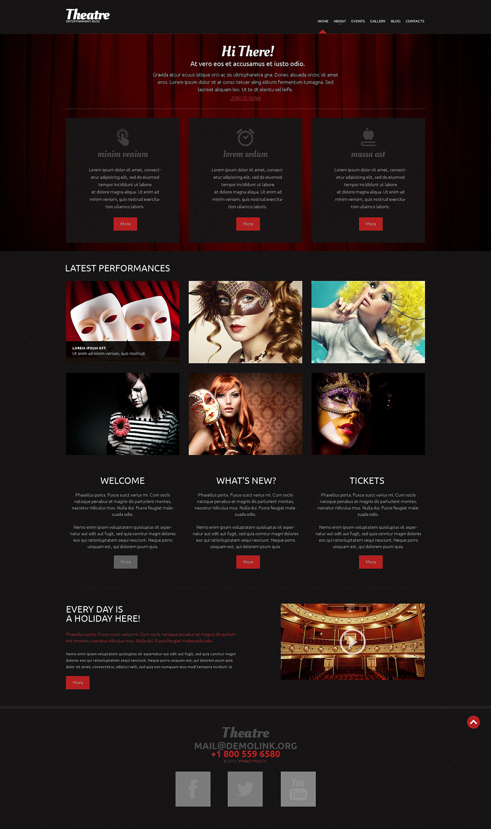 Theater Theme (website theme) Item Picture