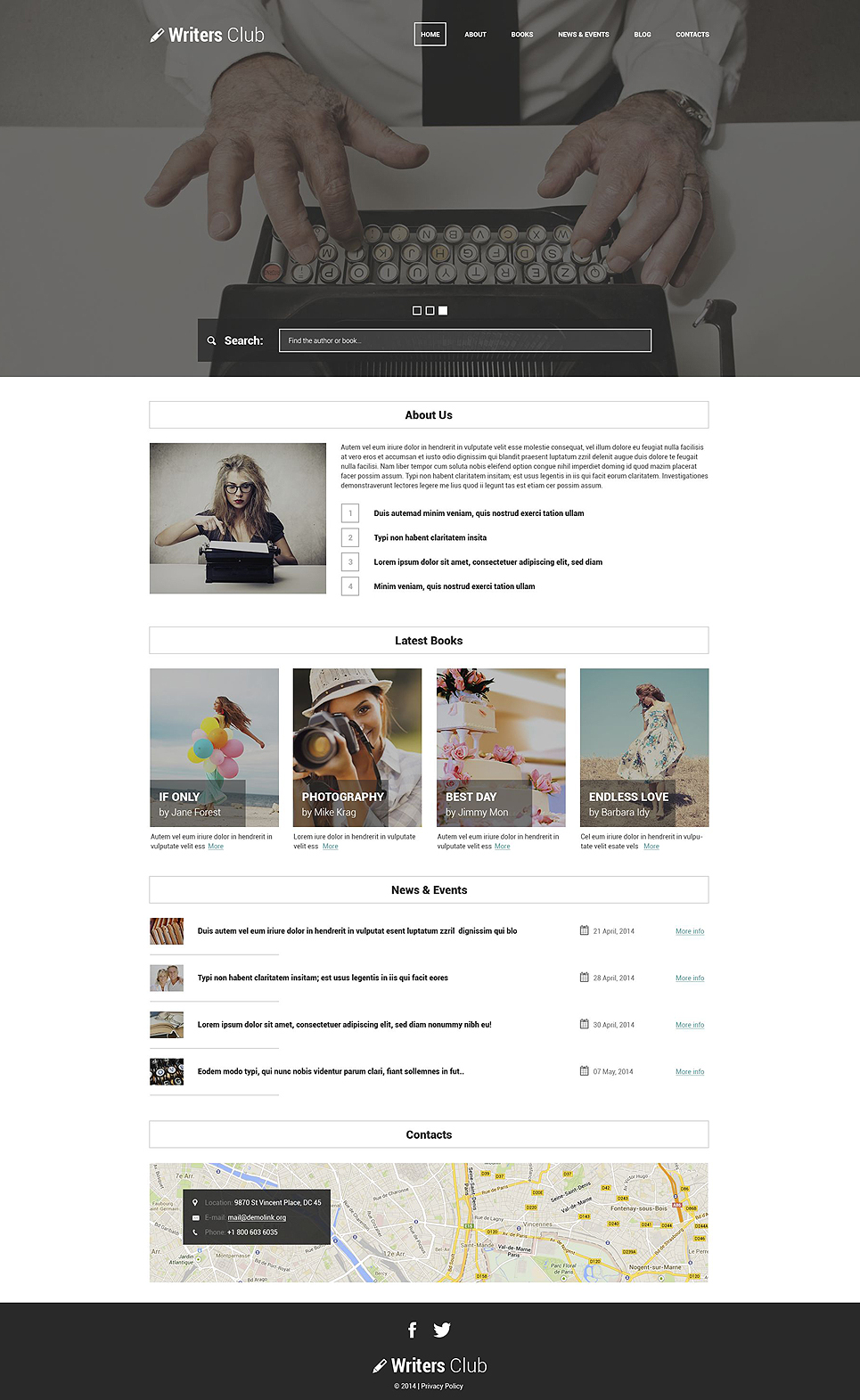 Writing Spot WordPress Theme (website theme) Item Picture
