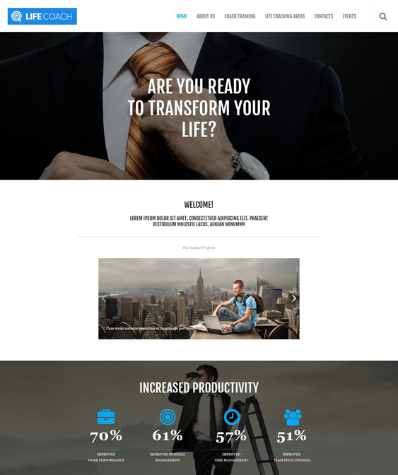 wordpress themes business life coaches