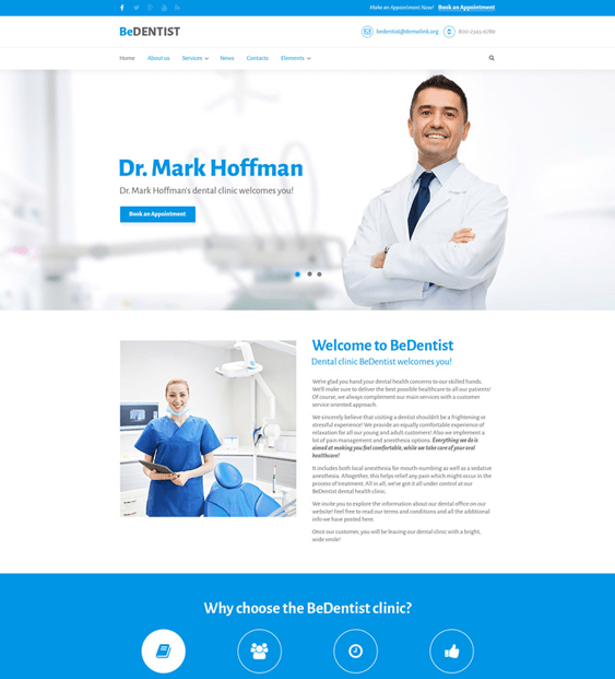drupal themes dental clinics dentists