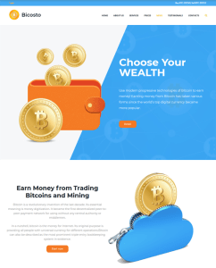 best bitcoin cryptocurrency website wordpress themes feature