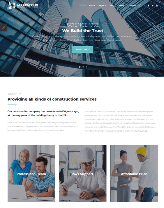 10 of the Best Joomla Templates for Building Contractors